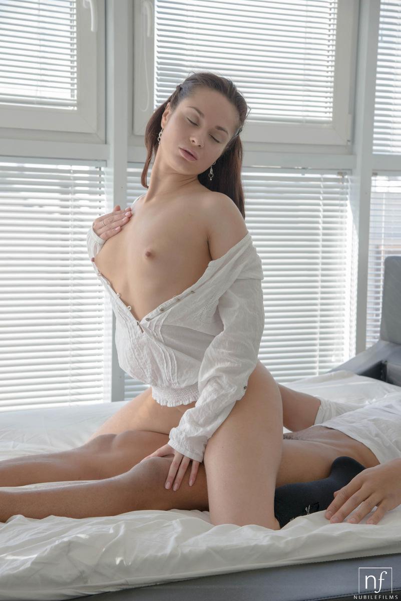 Brunette Small Perky Tits